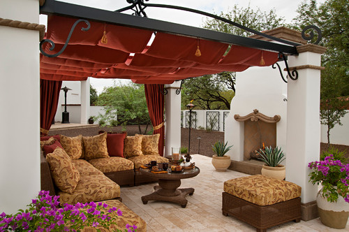 mediterranean-patio 15 Beautiful Wicker Furniture Design Inspirations