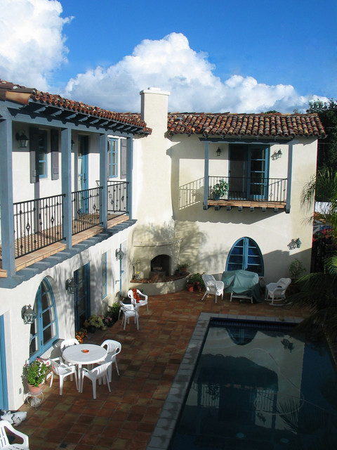 Spanish Colonial Style Homes Mediterranean Patio San