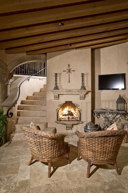 Spanish hacienda mediterranean patio phoenix by for Fireplaces southwest