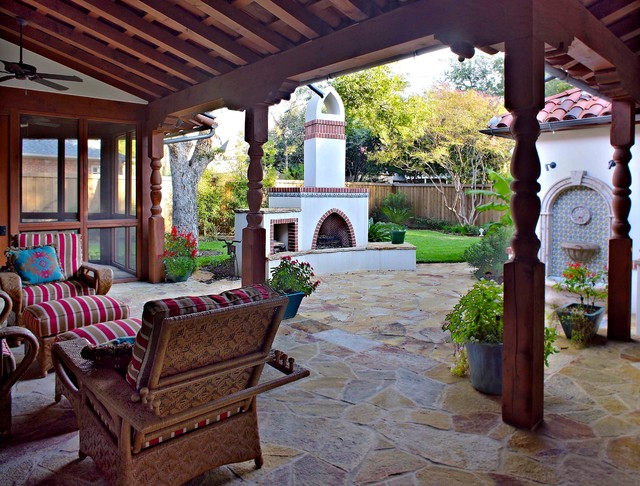 Spanish Mediterranean House Mediterranean Patio