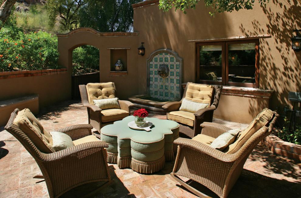 Southwest brick patio fountain photo in Phoenix