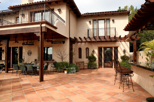 Spanish style mediterranean patio los angeles by - Mexican style patio design ...