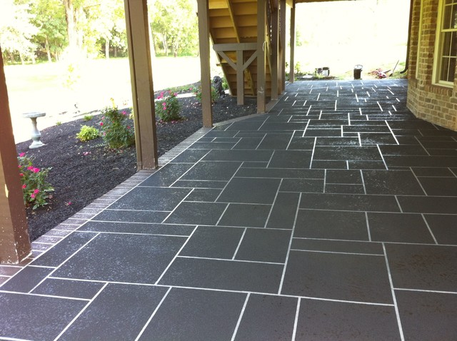 Amazing Sprayed Concrete Overlay   Good Project Traditional Patio