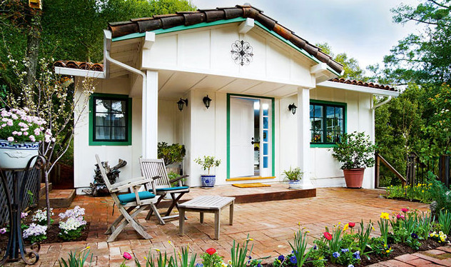 Spring 39 s cottage one bedroom spanish style cottage for Prefab mediterranean style homes