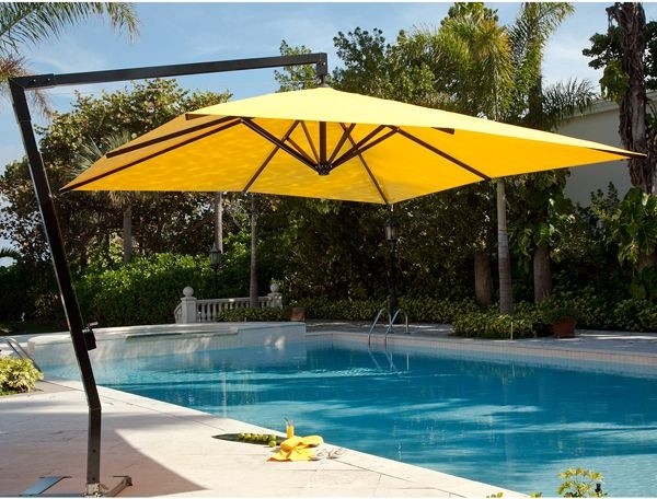 Square Market Style Offset Umbrella Modern Patio