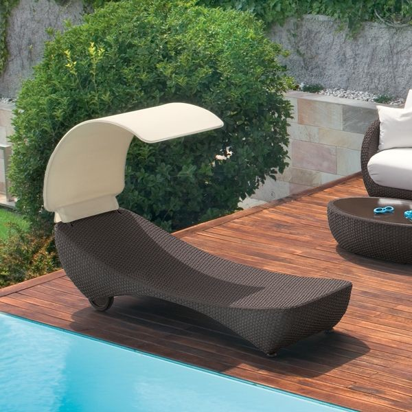 St Tropez Outdoor Wicker Chaise Contemporary Patio