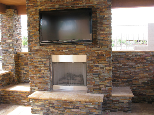 Stacked Stone Ledger Panel Contemporary Patio Other Metro By Quality Stone Concepts