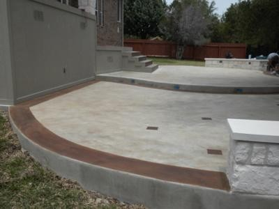 Amazing Stained Concrete Patio Contemporary Patio