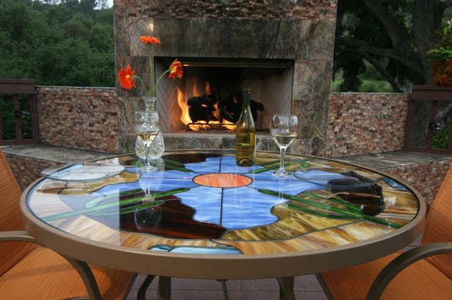 Stained Glass Patio Tables Patio San Diego