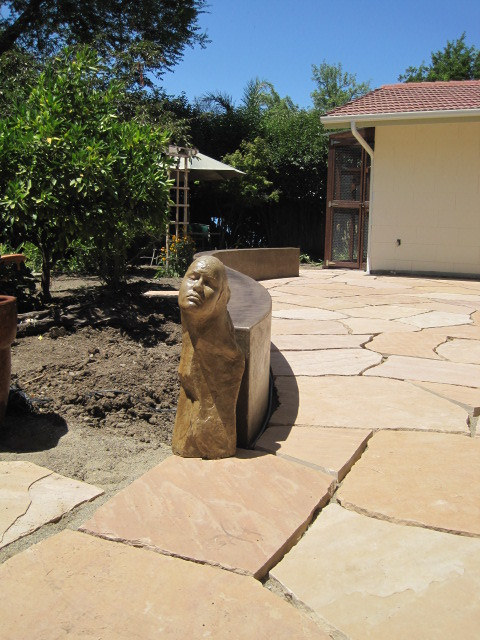 Staining Concrete LastiSeal Stain Sealer Applied to Flagstone