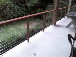 Stainless steel cable railing systems modern-patio