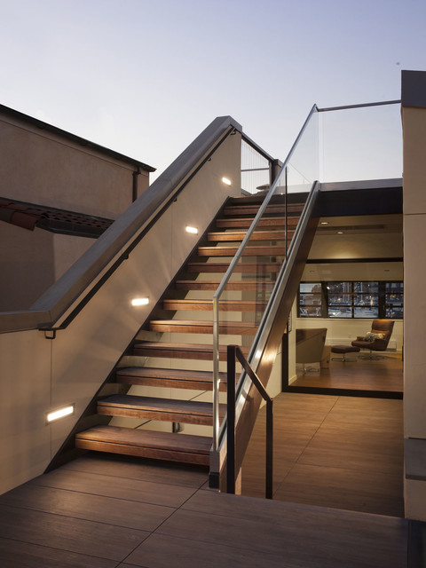 Stairs To Upper Roof Deck Modern Patio San Francisco By Ods Architecture