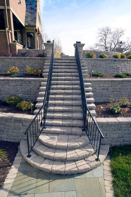 Stairs Patio Minneapolis By Versa Lok Retaining Wall