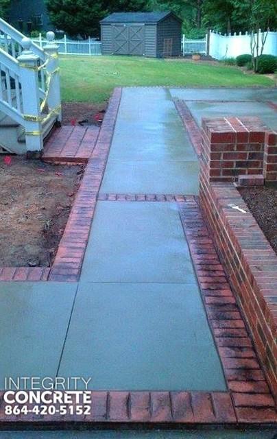 Stamped Concrete Brick Border
