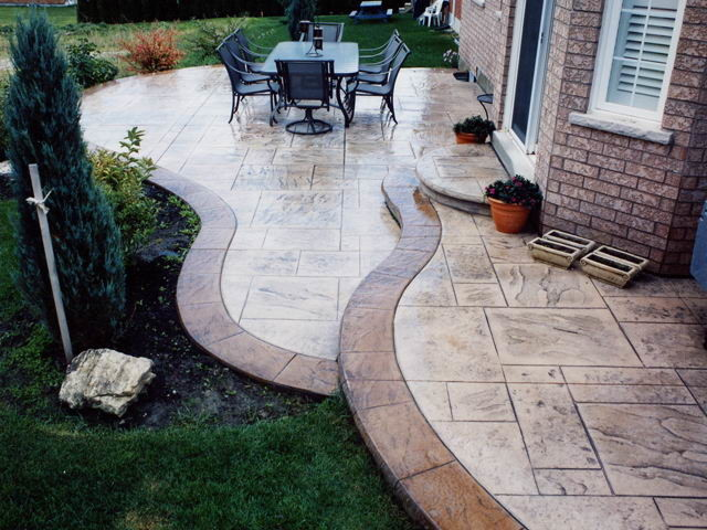 Stamped Concrete Decorative Concrete Toronto Ontario Canada Contemporary  Patio