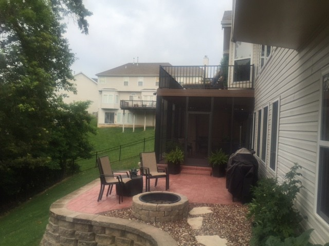 Stamped Concrete Patio and Fire Pit Eureka, Missouri