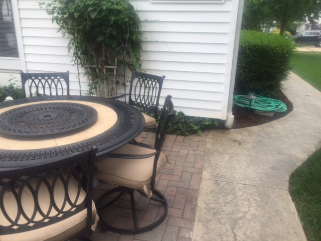 Stamped Concrete Patio Border and Walkway Manchester, Missouri