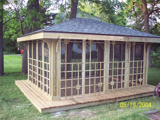 Stand Alone Deck Designs : Stand alone gazebo traditional patio chicago by dew it