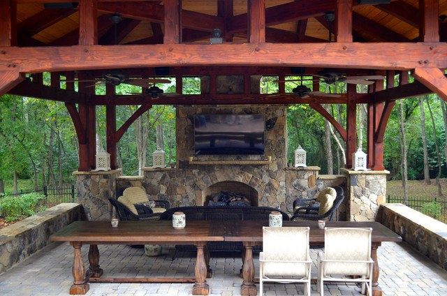 Stand Alone Timber Frame With Fireplace