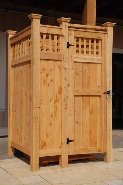 Standard Cedar Outdoor Shower Manchester NH By Cape Cod Shower Kits Co