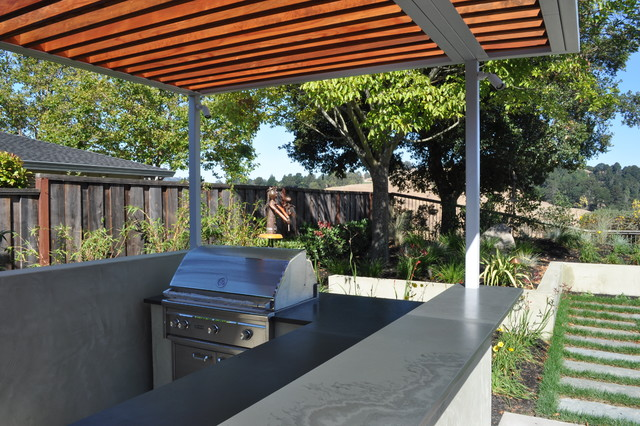 Steel And Wood Arbor Modern Patio San Francisco By