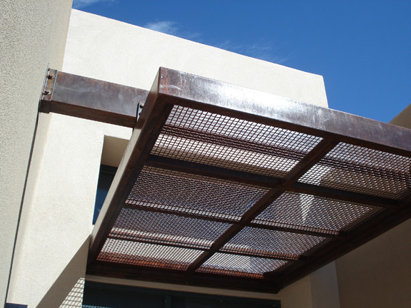 Steel Awning Modern Patio Albuquerque By Modulus