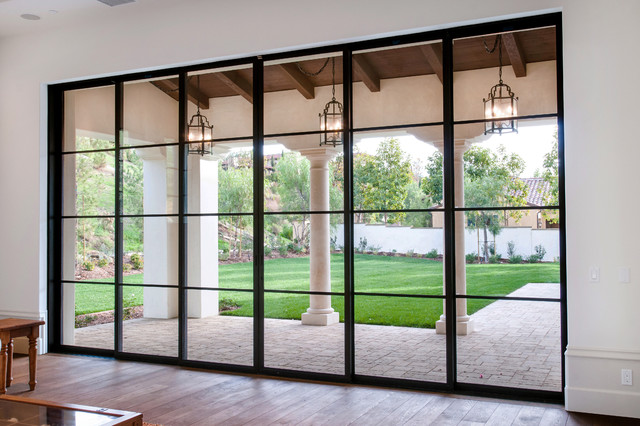 Superieur Steel Pocket Sliding Doors Mediterranean Patio
