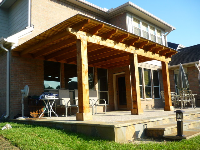 Stegall Pergola - Traditional - Patio - Houston - by Overall Exteriors