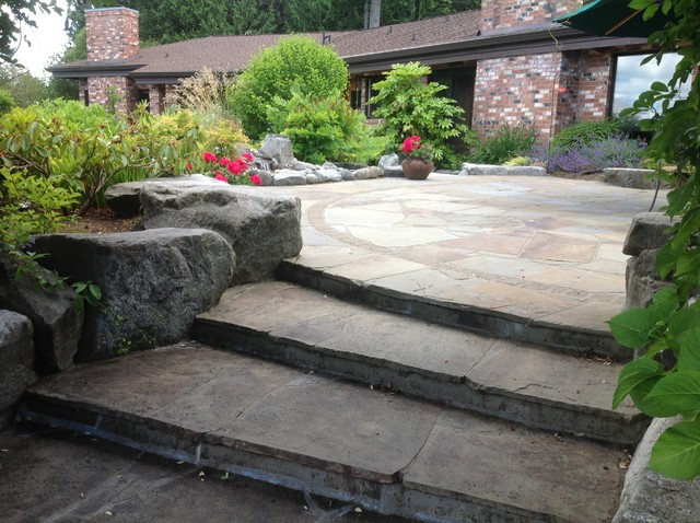 Steps and Patios traditional-patio