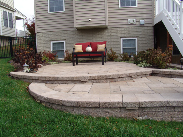 Steps and split level patio patio baltimore by for Split level garden decking