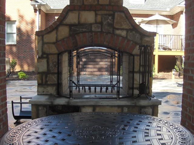 Stone, Brick and Concrete patio
