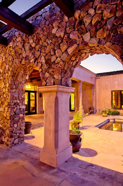 Stone Canyon mediterranean-patio