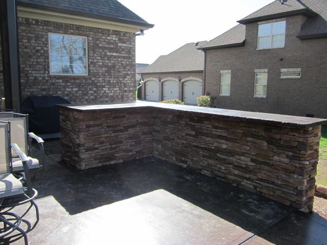 Stone-Crete Artistry rustic-patio