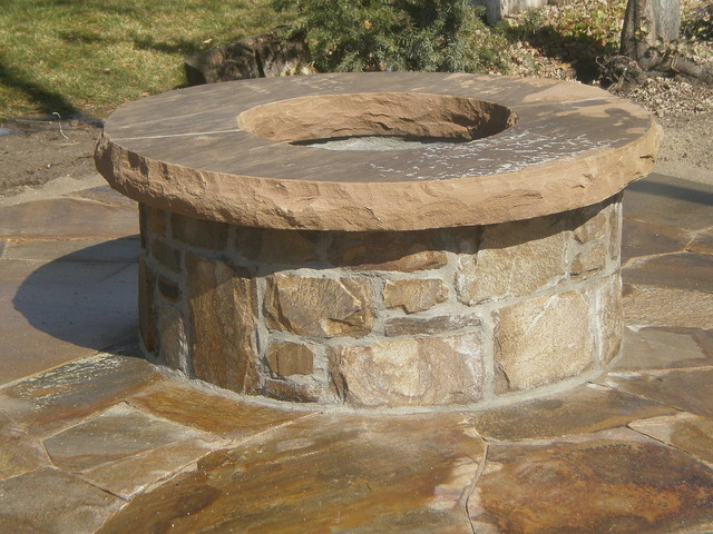 Salt Lamp Fire Pit : Stone Fire Pit - Contemporary - Patio - Salt Lake City - by NPW Stone Masonry