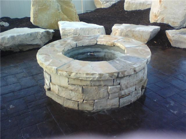 Stone fire pit salt lake city di npw stone masonry for Aggiunte di saltbox house