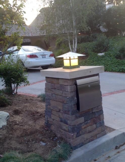 Stone Mailbox Craftsman Patio Los Angeles By