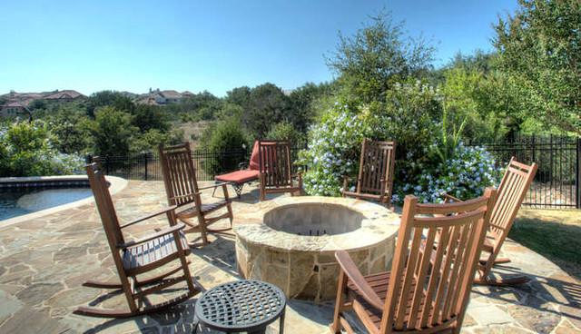 Stone Oak mediterranean-patio
