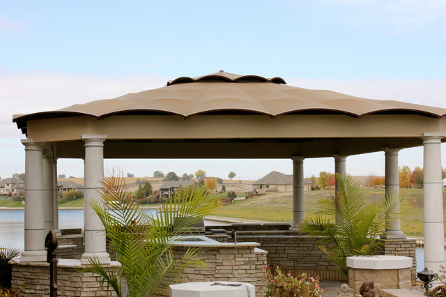 Stone outdoor kitchen traditional patio omaha by for Outdoor kitchen omaha