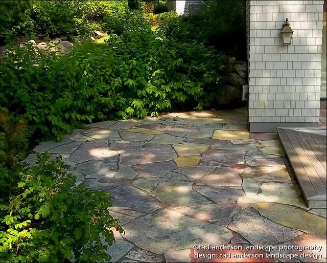 Stone patio minnesota landscape design craftsman for Landscape design mn