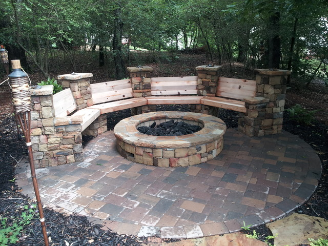 Stone Stacked Fire Pit
