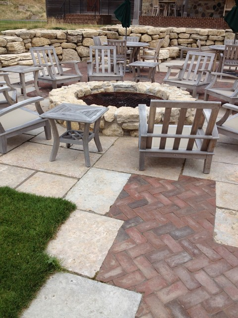 Stone used for outdoor living areas traditional-patio