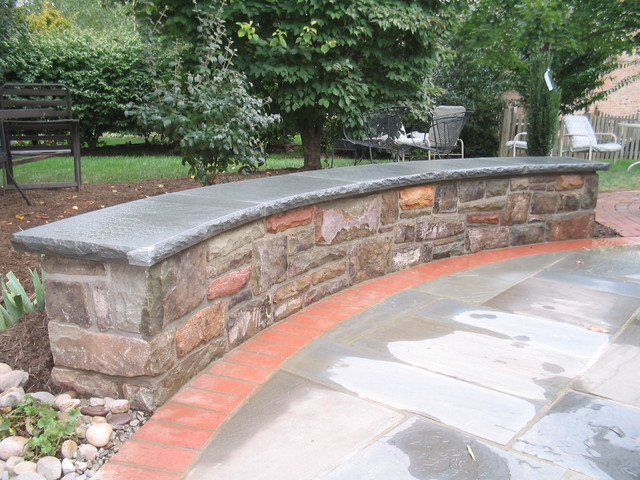 Stone Walls modern patio