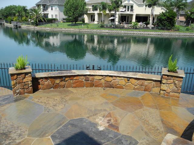 Stone Work traditional-patio