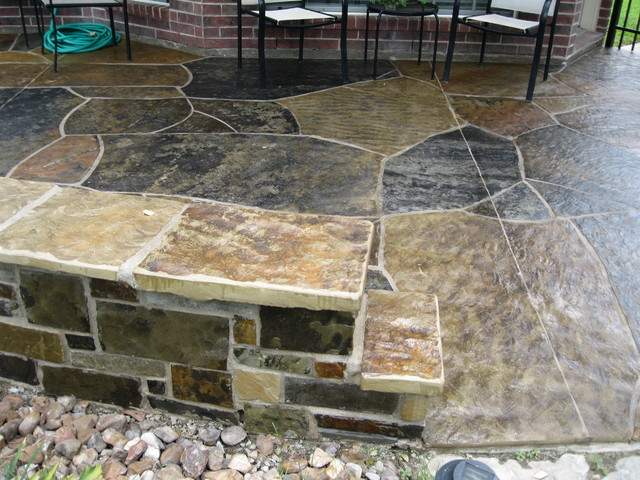 Stone Work traditional patio