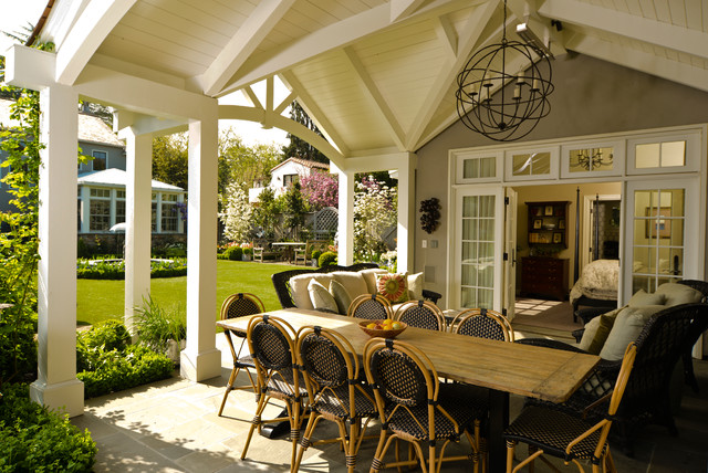 Stucco Tudor Cottage - Craftsman - Patio - San Francisco ...