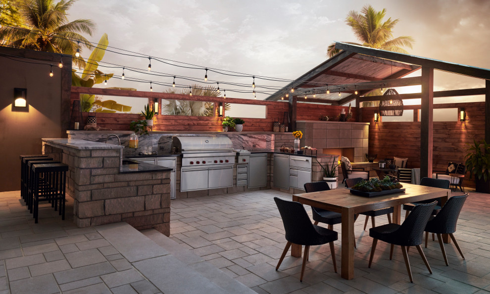 Patio - transitional patio idea in Other