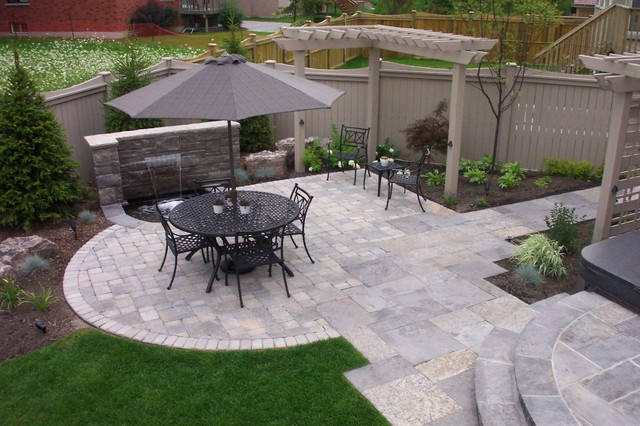 Fire Pit Backyard Toronto :  Backyard Landscape, Richmond Hill  Traditional  Patio  Toronto