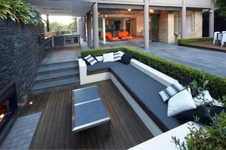 Sunken Connections - Contemporary - Patio - Sydney - by Dean Herald-Rolling Stone Landscapes