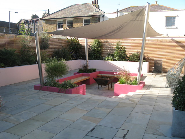 Sunken Garden   Ramsgate Contemporary Patio