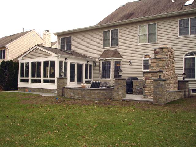 Sunroom And Bluestone Patio In Monmouth County